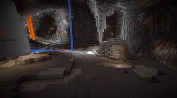 Майнкрафт пещеры