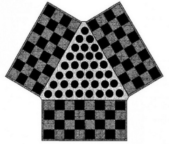 Американские шашки втроем
