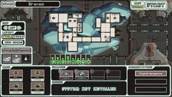 Игра FTL корабль Bravais, The Crystalline Cruiser