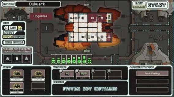 Игра FTL корабль Bulwark