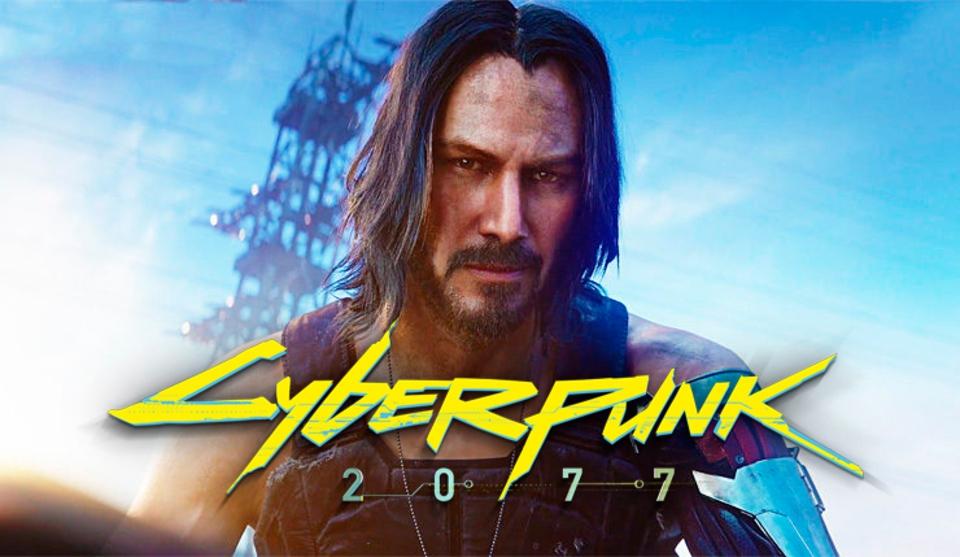 Cyberpunk 2077 первый постер с Киану Ривзом в роли Джонни Сильверхенда