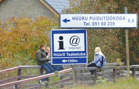 Дорожный знак интернет в Эстонии