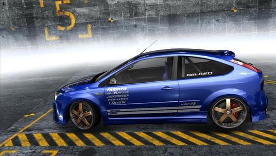 Синий Ford Focus в NFS