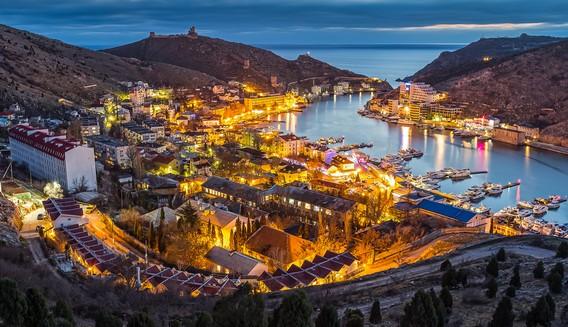 Ночная Балаклава Крым