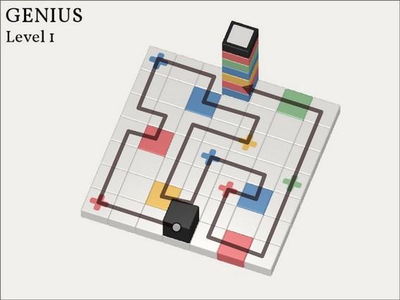 Прохождение Cubicolor Уровень 1. Genius