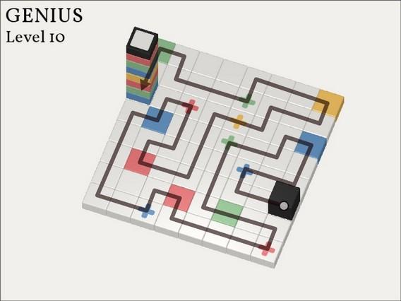 Прохождение Cubicolor Уровень 10. Genius