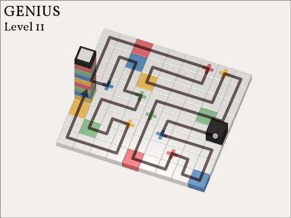 Прохождение Cubicolor Уровень 11. Genius