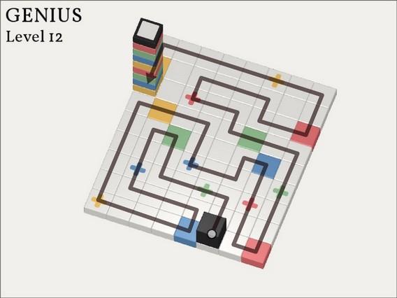 Прохождение Cubicolor Уровень 12. Genius