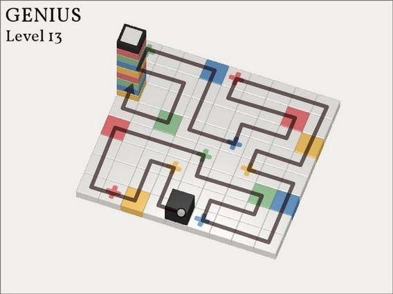 Прохождение Cubicolor Уровень 13. Genius