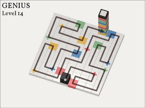 Прохождение Cubicolor Уровень 14. Genius
