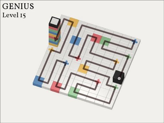 Прохождение Cubicolor Уровень 15. Genius