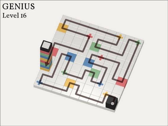 Прохождение Cubicolor Уровень 16. Genius