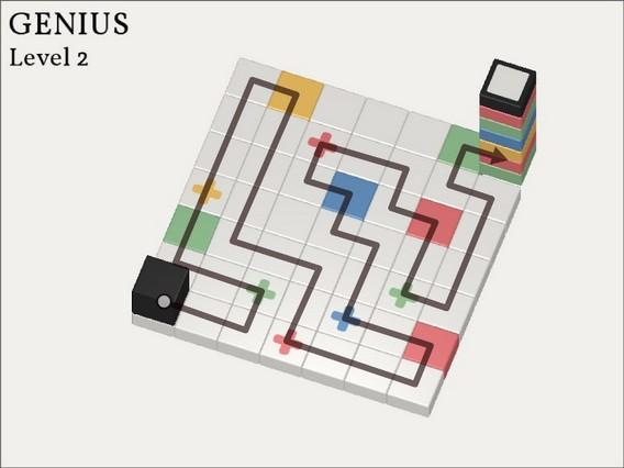 Прохождение Cubicolor Уровень 2. Genius