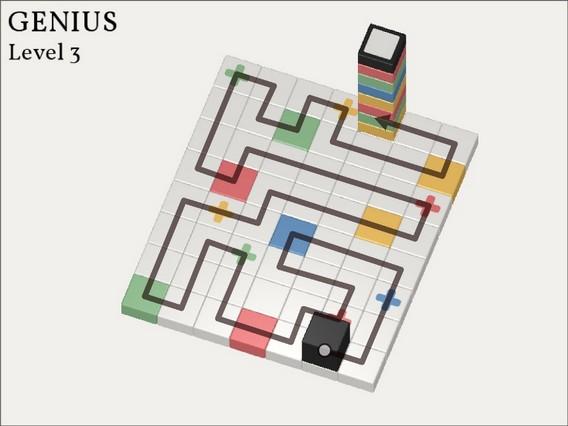 Прохождение Cubicolor Уровень 3. Genius