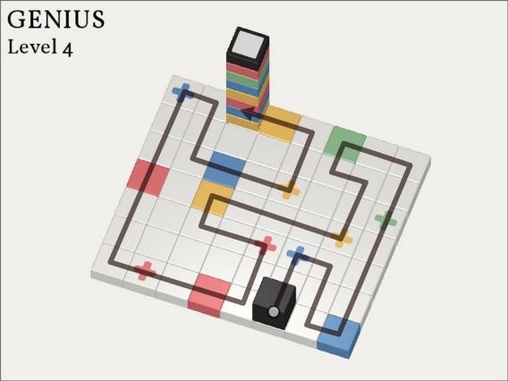 Прохождение Cubicolor Уровень 4. Genius