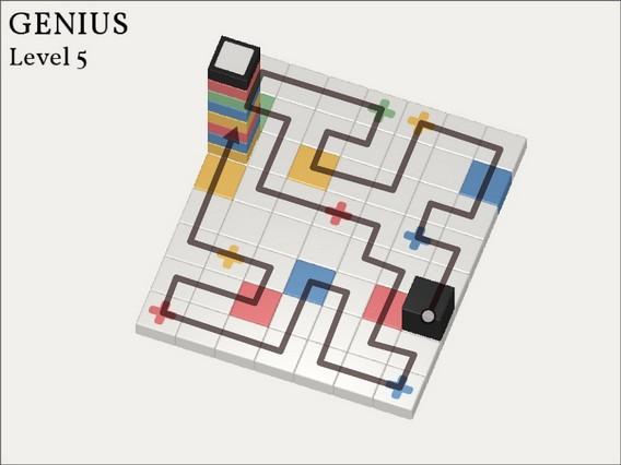 Прохождение Cubicolor Уровень 5. Genius