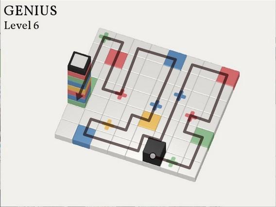 Прохождение Cubicolor Уровень 6. Genius