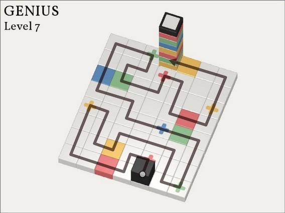 Прохождение Cubicolor Уровень 7. Genius