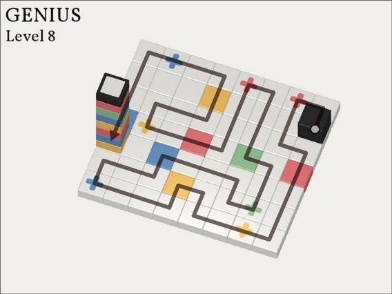 Прохождение Cubicolor Уровень 8. Genius