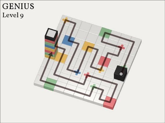 Прохождение Cubicolor Уровень9. Genius