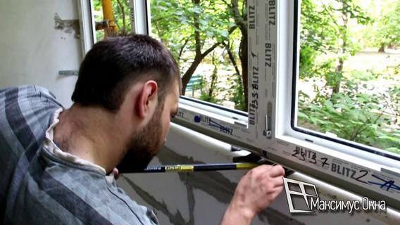 Самостоятельный монтаж пластикового окна на балконе