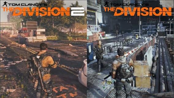 Сравнение The Division 2 и 1