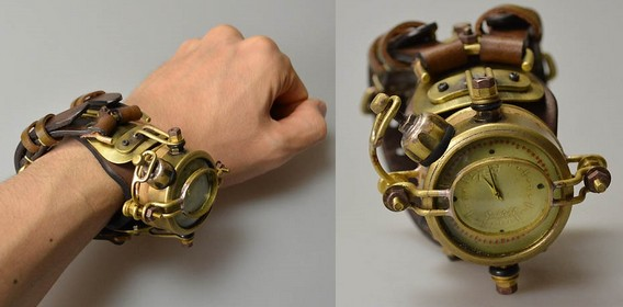Стимпанк наручные часы