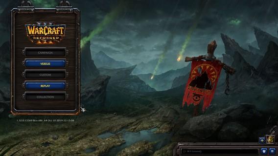 Warcraft 3 Reforged игровое меню