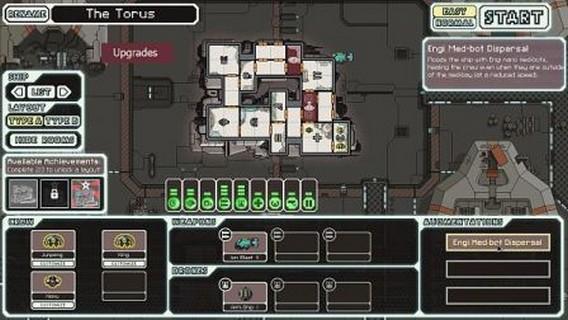 Игра FTL корабль Torus, The Engi Cruiser