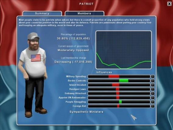 Игра Democracy 2 патриот