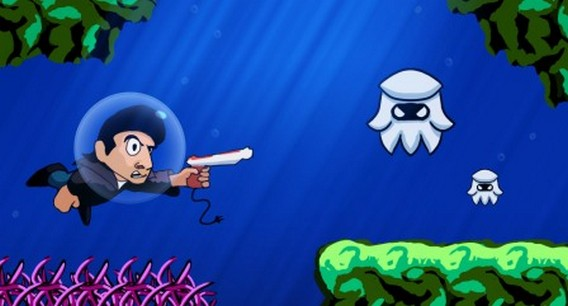 Игра Retro City Rampage подводный мир