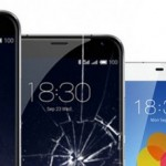 разбитое стекло смартфона meizu